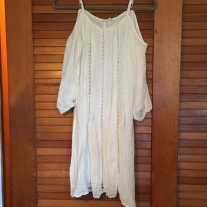 Maurices white cold shoulder dress
